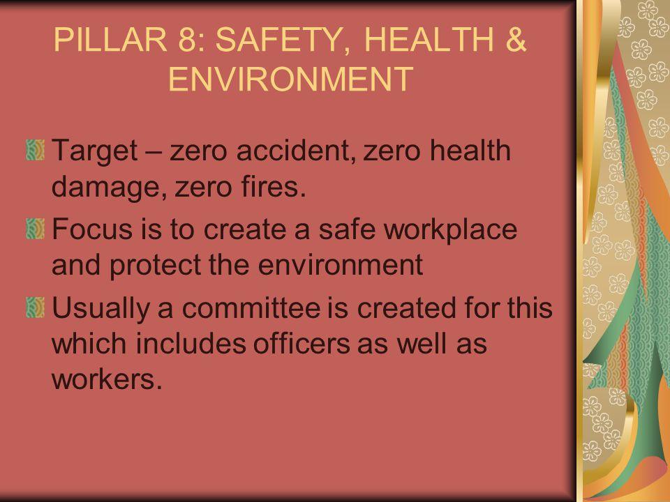 PILLAR 8: SAFETY, HEALTH & ENVIRONMENT