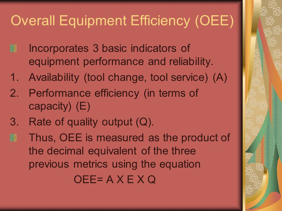 Overall Equipment Efficiency (OEE)