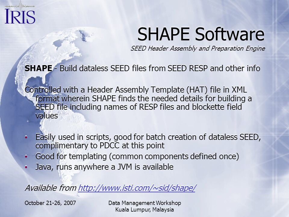 SHAPE Software SEED Header Assembly and Preparation Engine