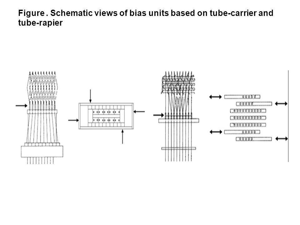 Figure . Schematic views of bias units based on tube-carrier and tube-rapier