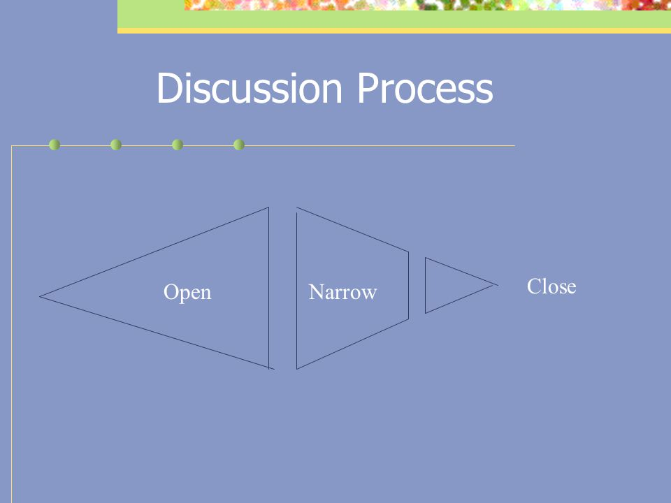 Discussion Process Close Open Narrow