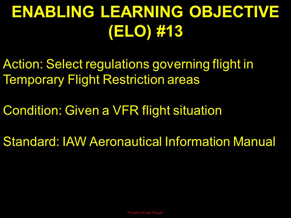 ENABLING LEARNING OBJECTIVE (ELO) #13