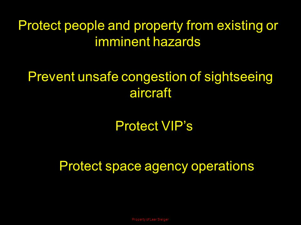 Protect people and property from existing or imminent hazards