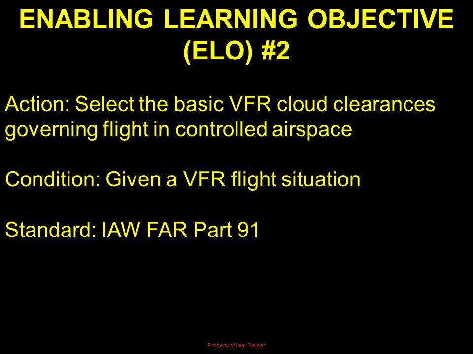 ENABLING LEARNING OBJECTIVE (ELO) #2