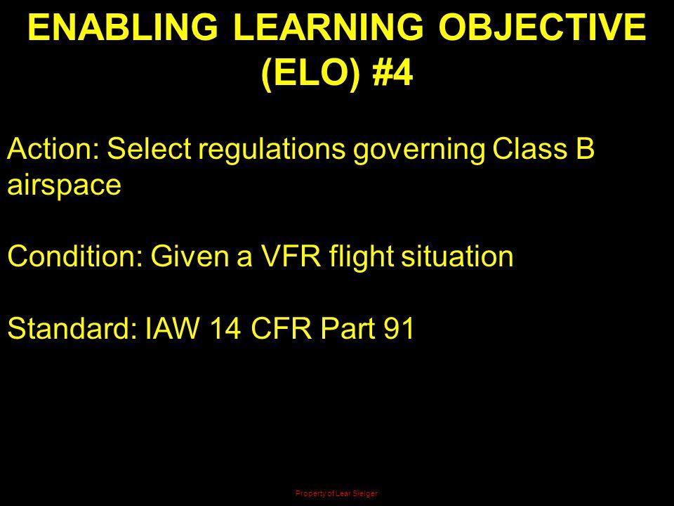 ENABLING LEARNING OBJECTIVE (ELO) #4