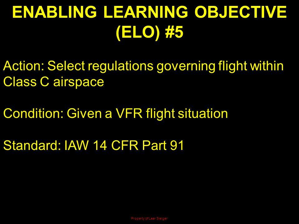 ENABLING LEARNING OBJECTIVE (ELO) #5
