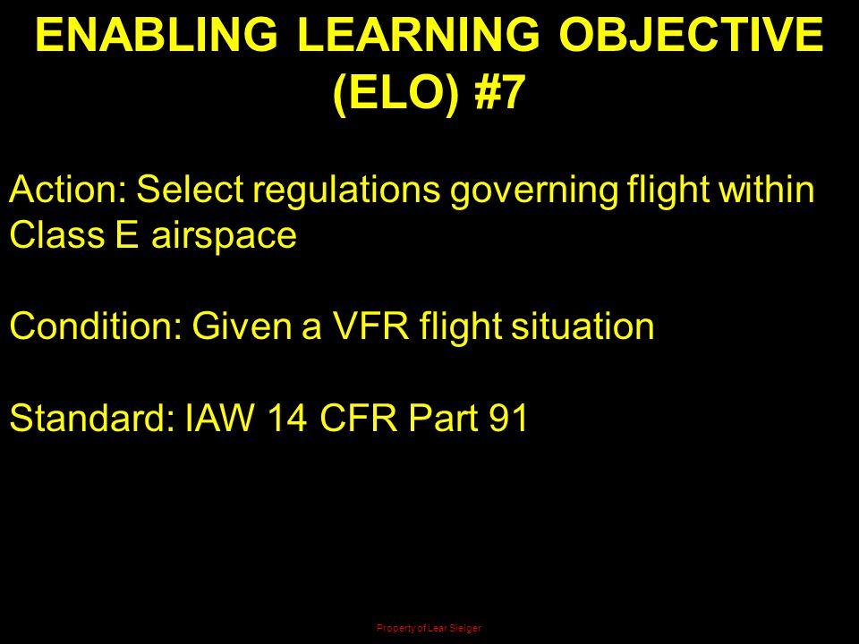 ENABLING LEARNING OBJECTIVE (ELO) #7