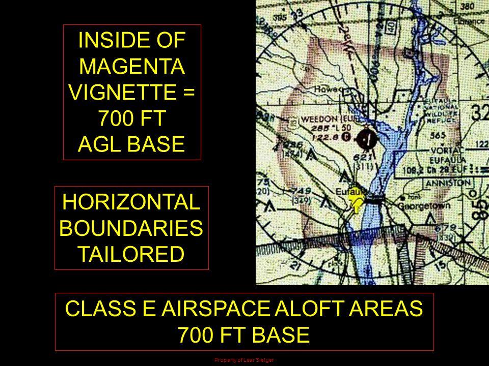 CLASS E AIRSPACE ALOFT AREAS 700 FT BASE