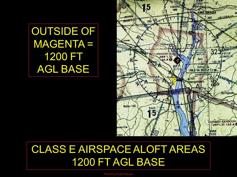 CLASS E AIRSPACE ALOFT AREAS 1200 FT AGL BASE