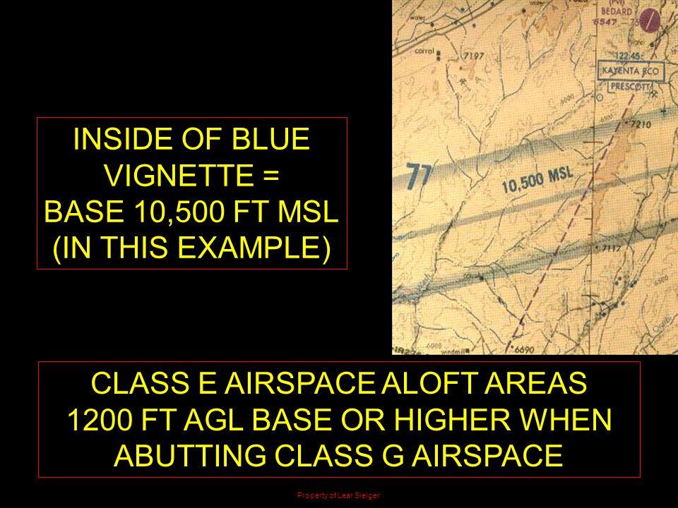 CLASS E AIRSPACE ALOFT AREAS
