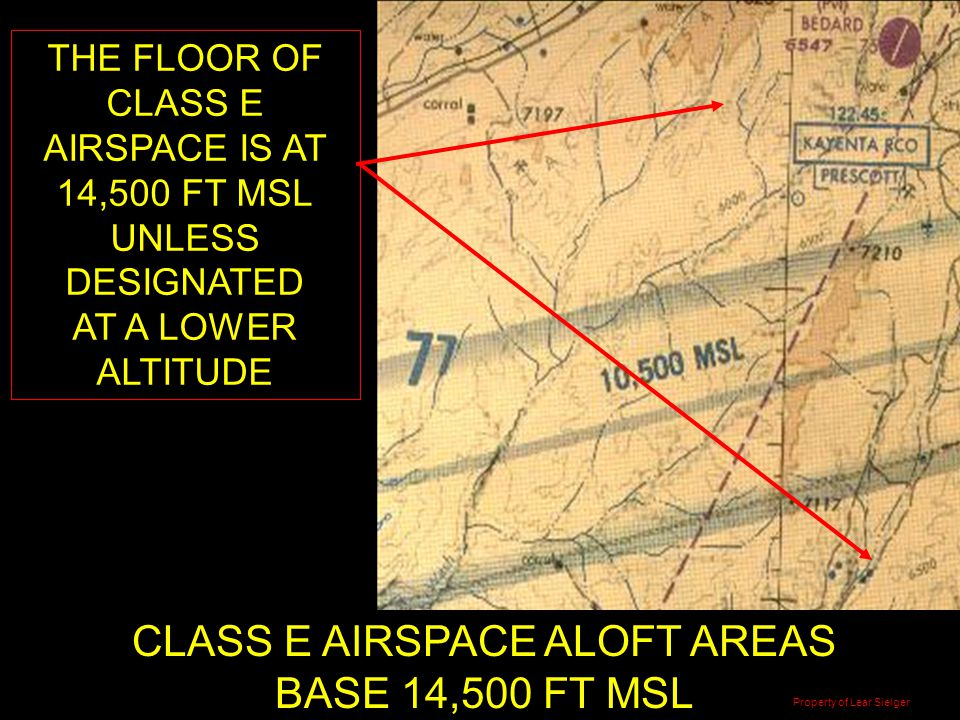 CLASS E AIRSPACE ALOFT AREAS BASE 14,500 FT MSL