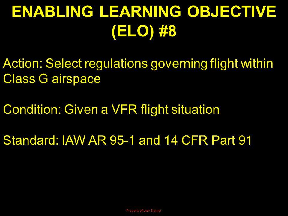 ENABLING LEARNING OBJECTIVE (ELO) #8