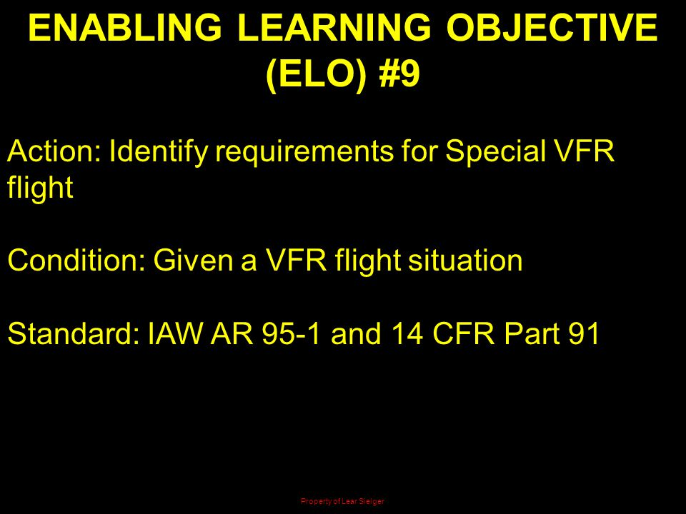 ENABLING LEARNING OBJECTIVE (ELO) #9