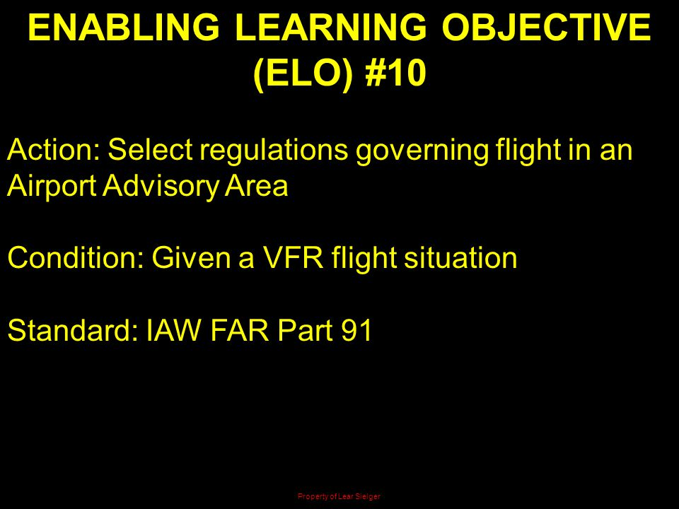 ENABLING LEARNING OBJECTIVE (ELO) #10