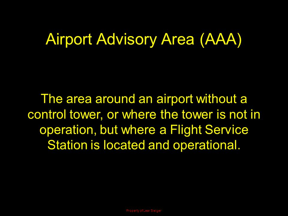 Airport Advisory Area (AAA)