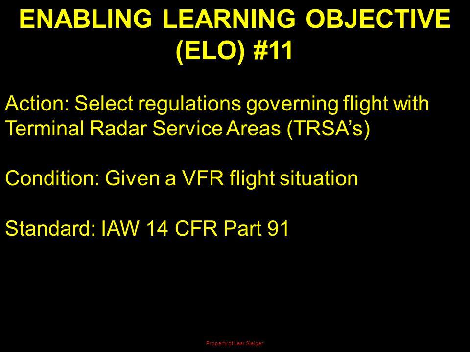 ENABLING LEARNING OBJECTIVE (ELO) #11