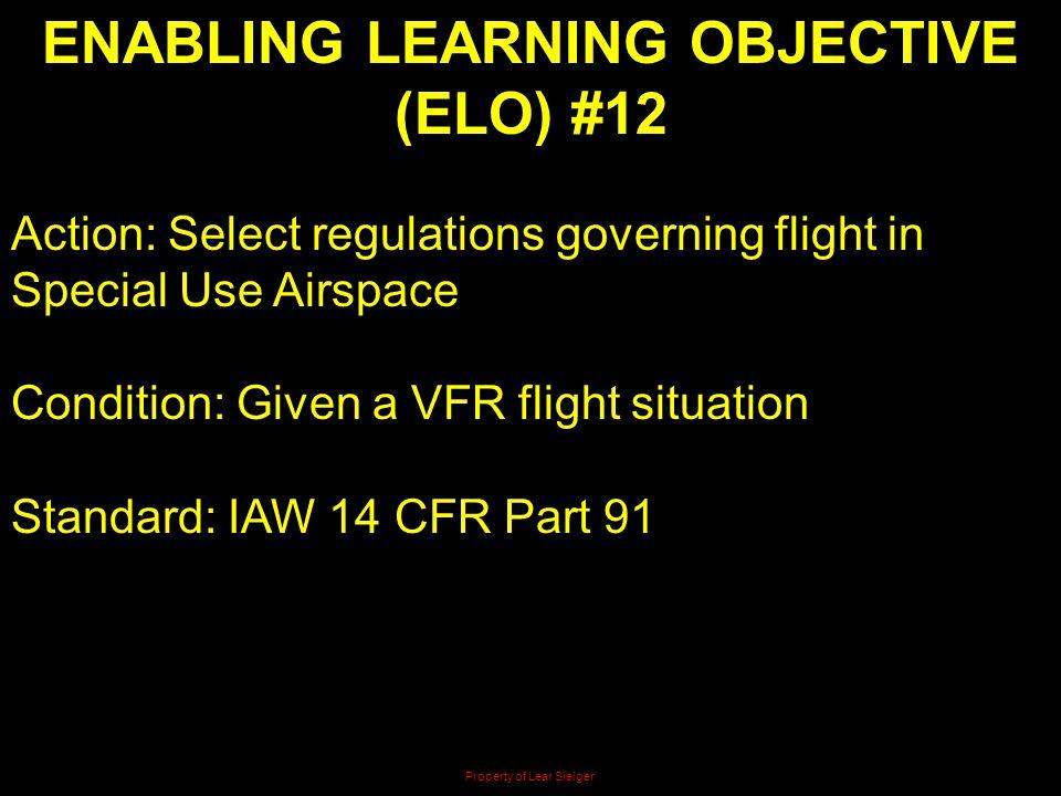 ENABLING LEARNING OBJECTIVE (ELO) #12