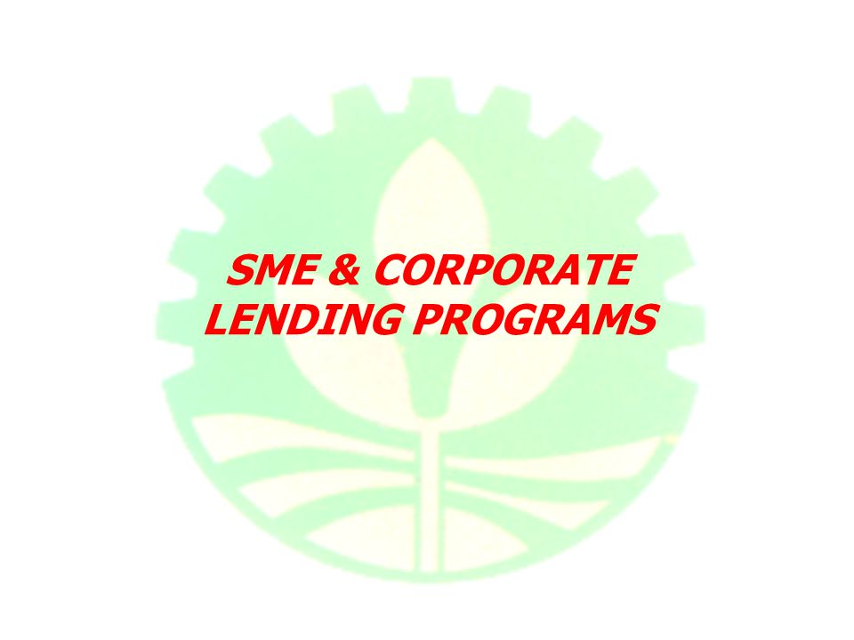 SME & CORPORATE LENDING PROGRAMS