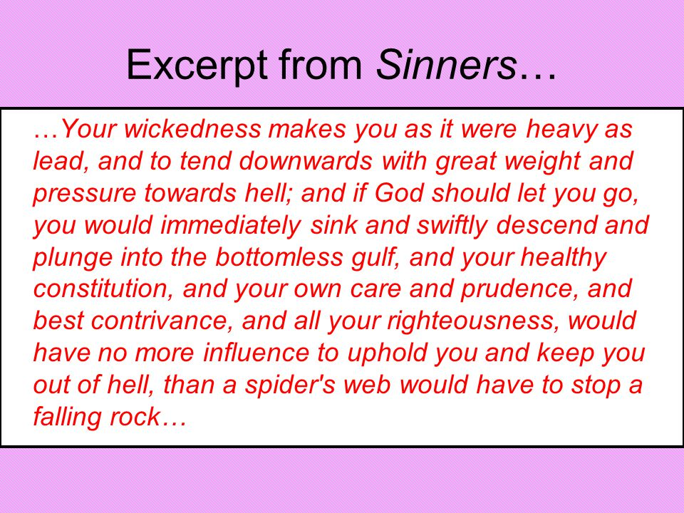 Excerpt from Sinners…