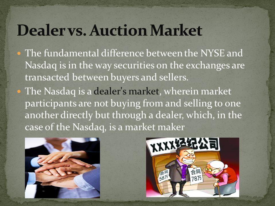 Dealer vs. Auction Market