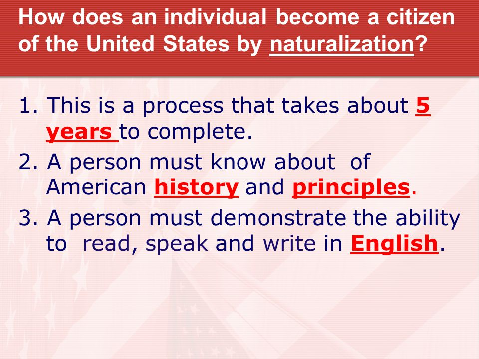 How does an individual become a citizen of the United States by naturalization