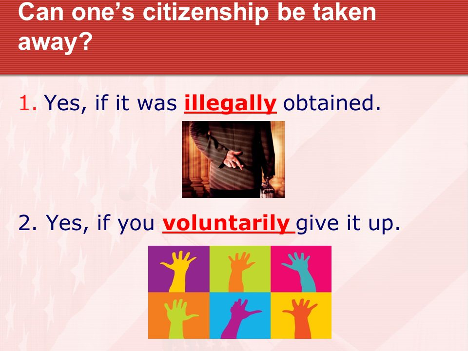 Can one's citizenship be taken away