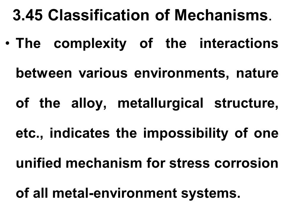 3.45 Classification of Mechanisms.