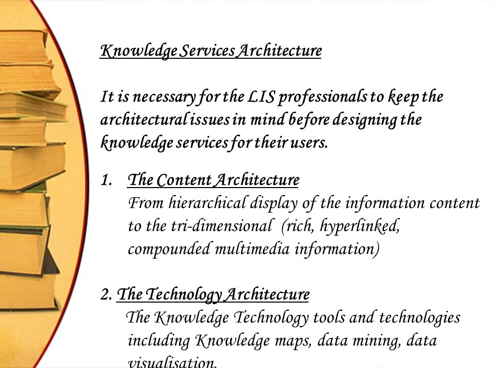 Knowledge Services Architecture