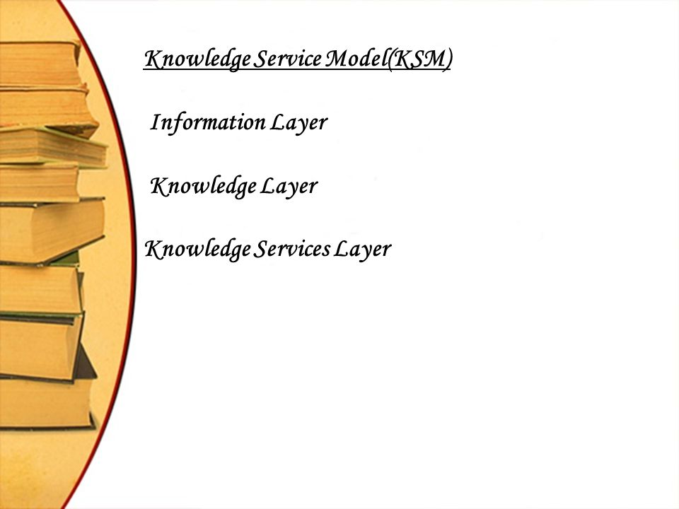 Knowledge Service Model(KSM)