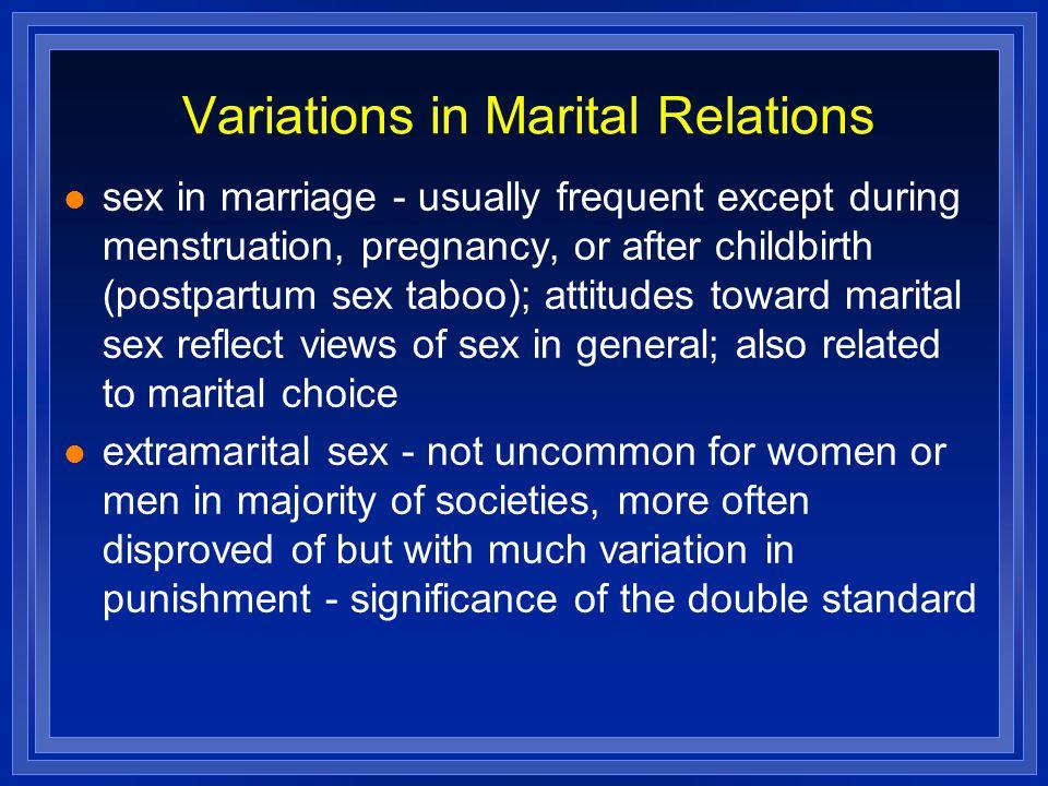Variations in Marital Relations