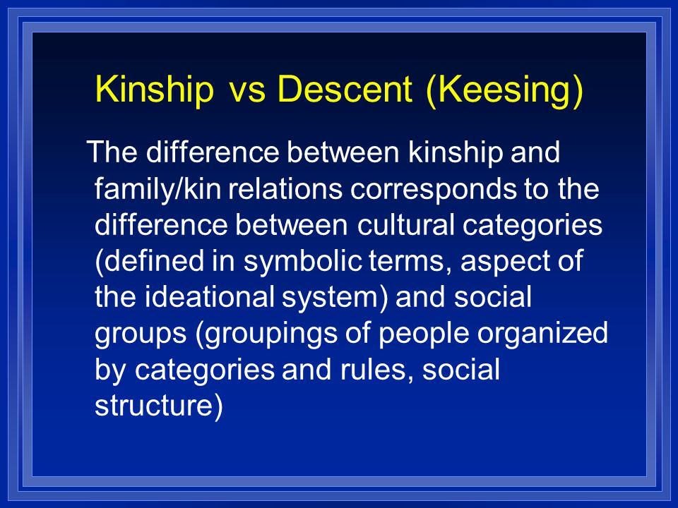 Kinship vs Descent (Keesing)