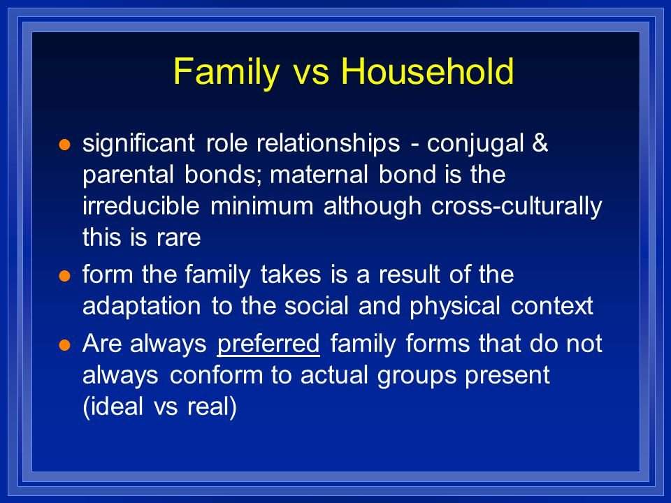Family vs Household