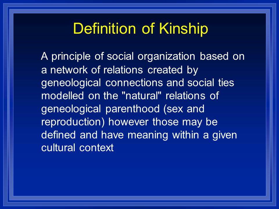 Definition of Kinship