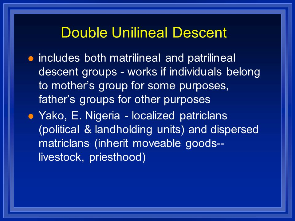Double Unilineal Descent