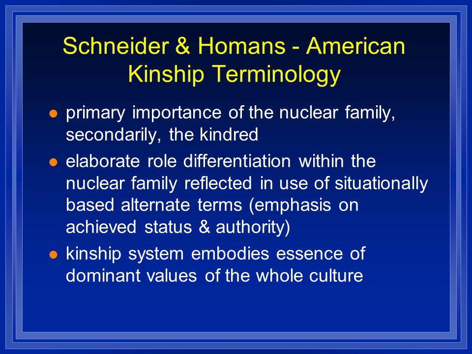 Schneider & Homans - American Kinship Terminology