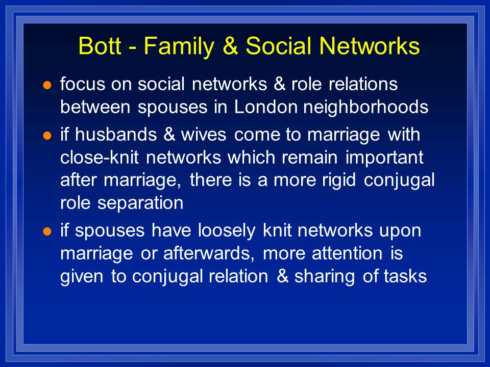 Bott - Family & Social Networks