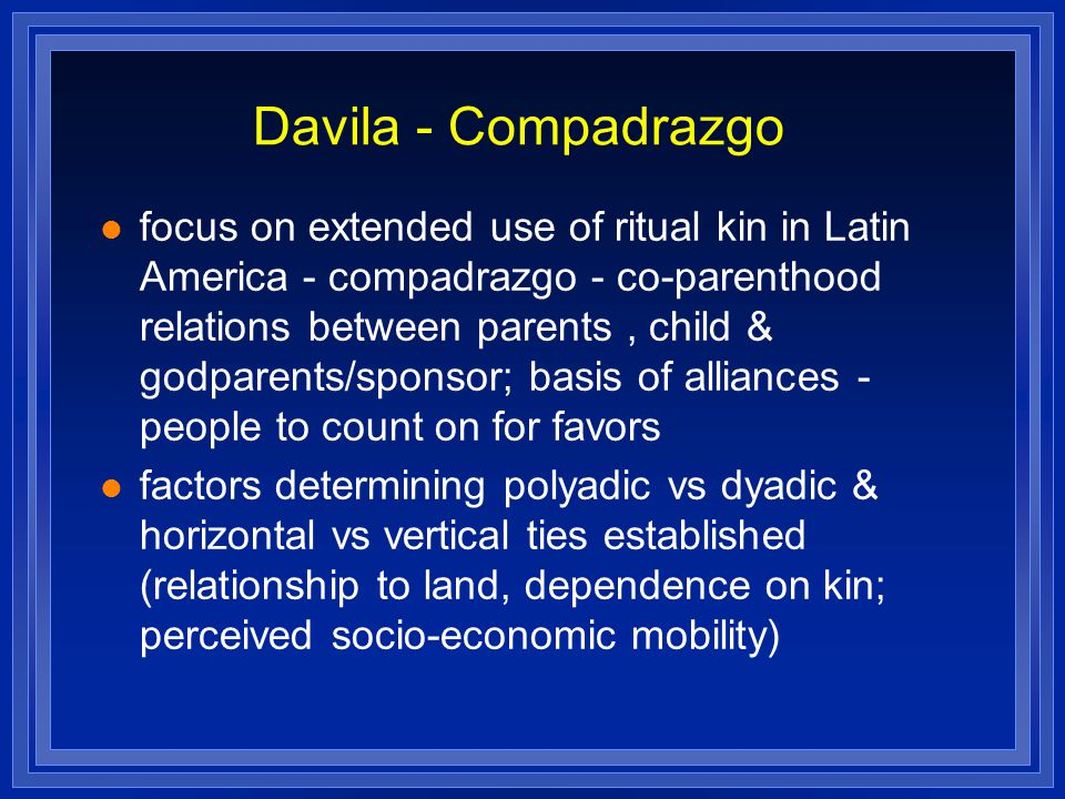 Davila - Compadrazgo