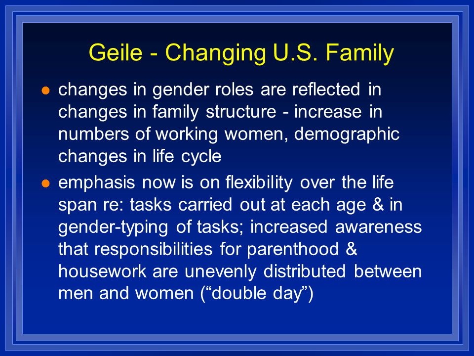 Geile - Changing U.S. Family
