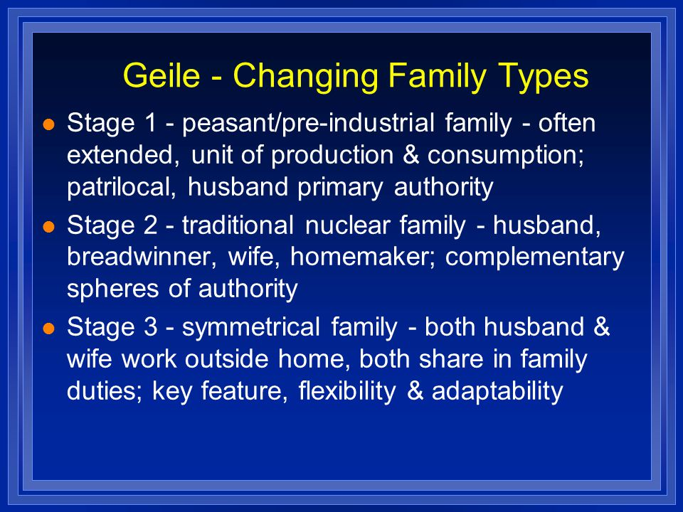 Geile - Changing Family Types