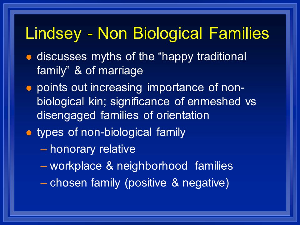 Lindsey - Non Biological Families