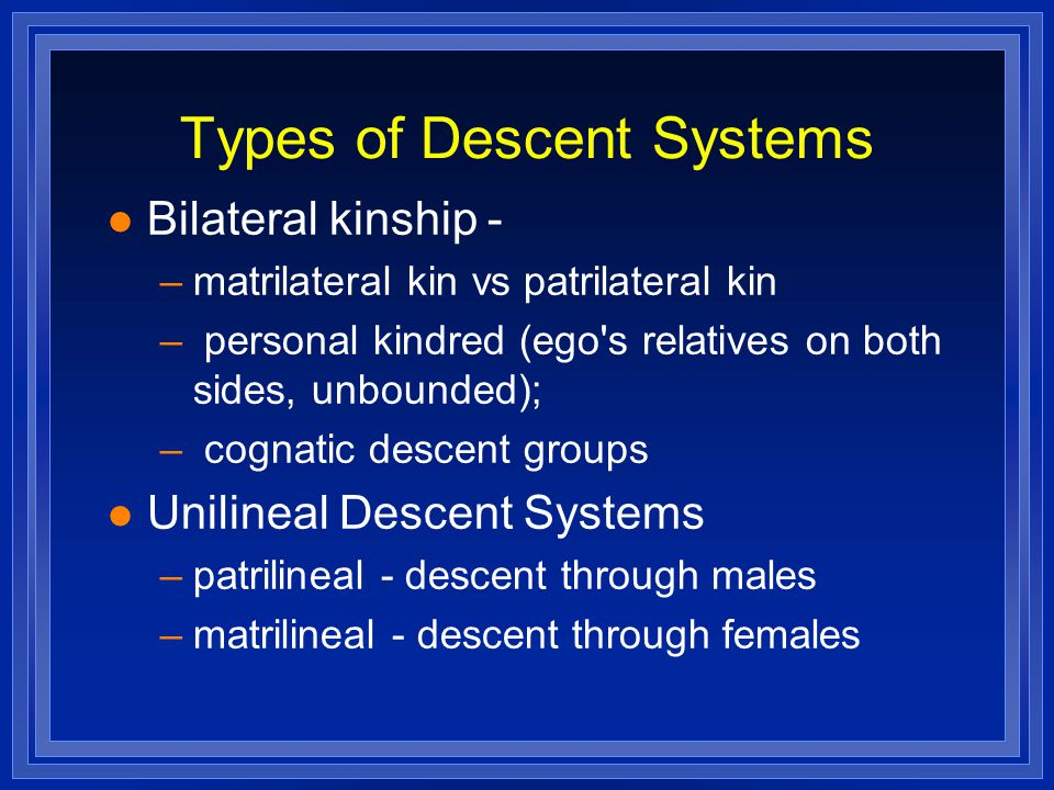 Types of Descent Systems