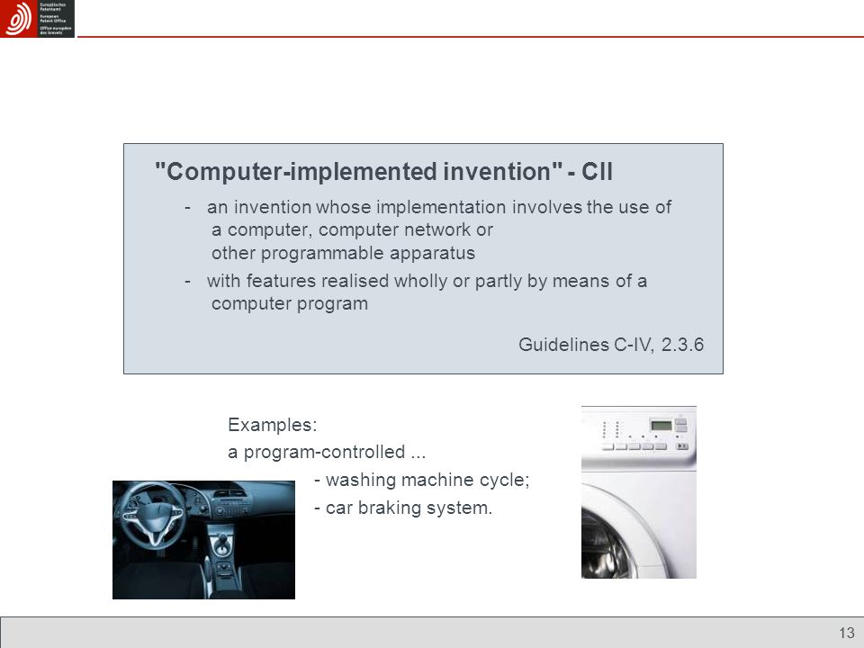 Computer-implemented invention - CII