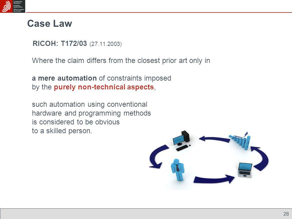 Case Law RICOH: T172/03 (27.11.2003)