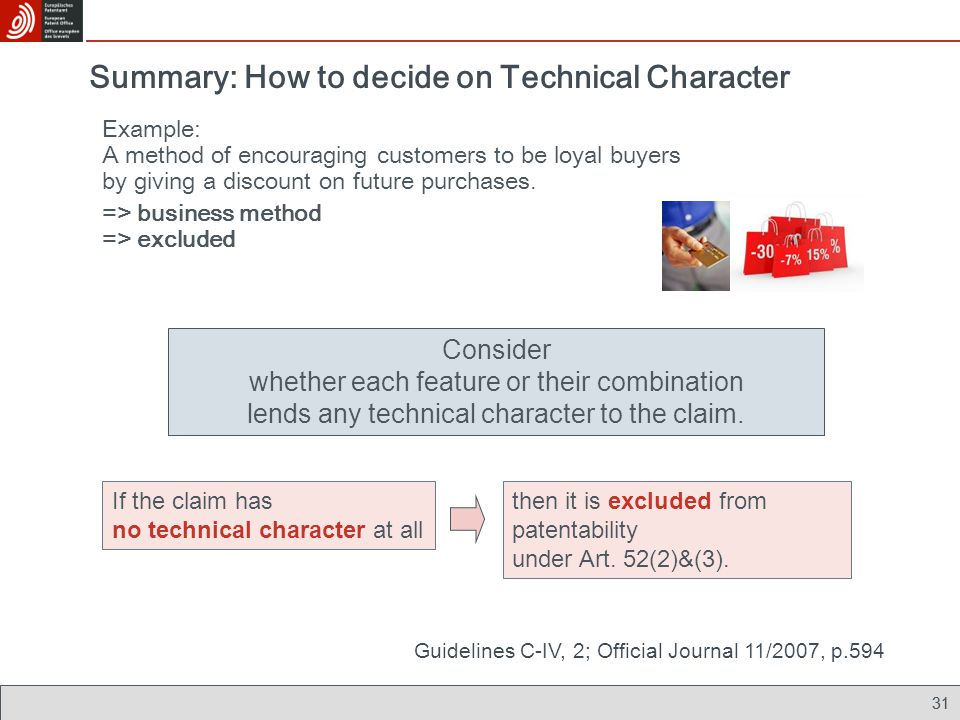 Summary: How to decide on Technical Character