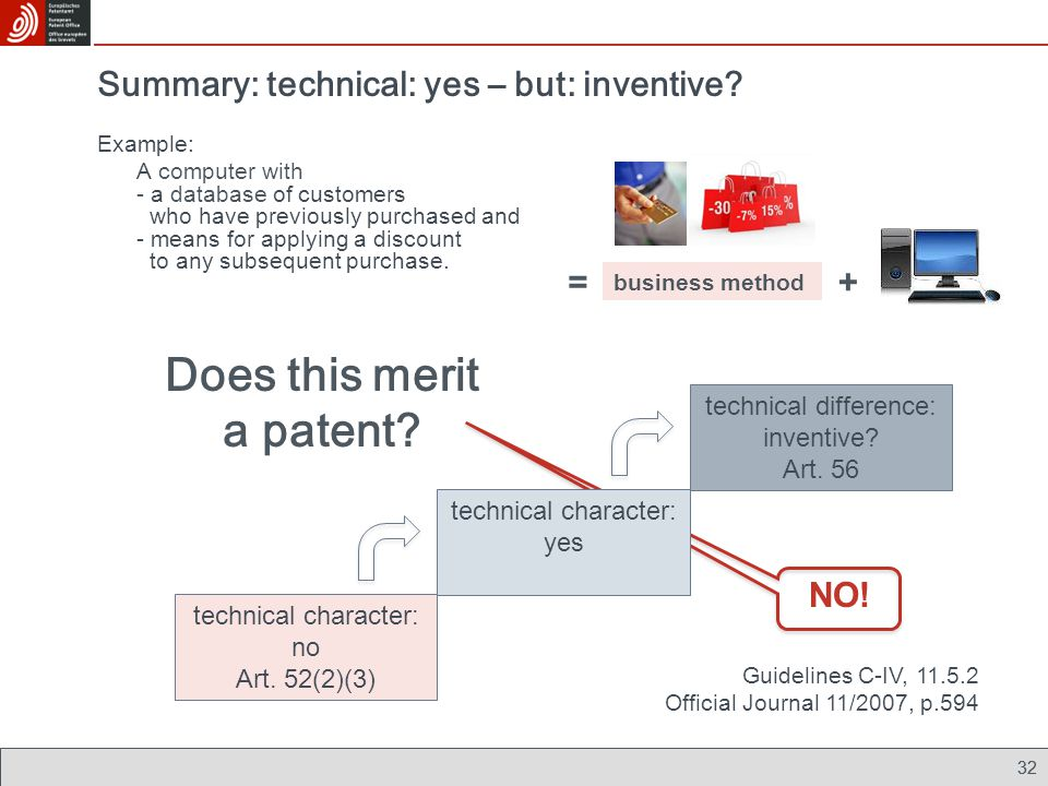 Summary: technical: yes – but: inventive