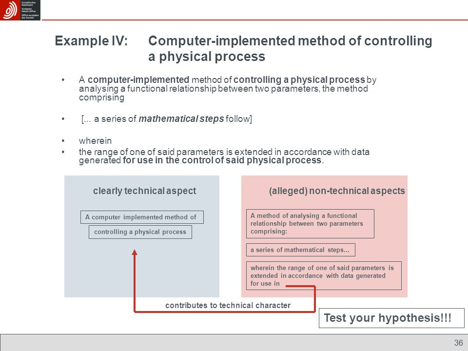 A computer implemented method of controlling a physical process