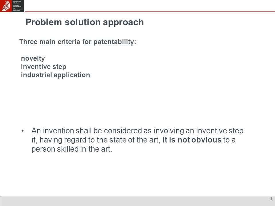 Problem solution approach