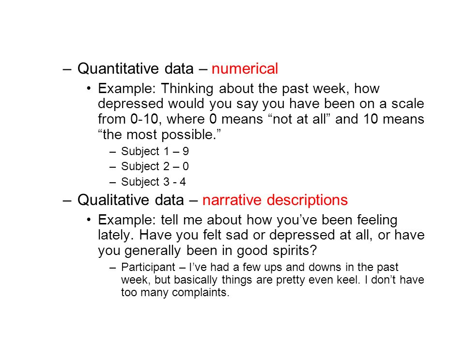 Quantitative data – numerical