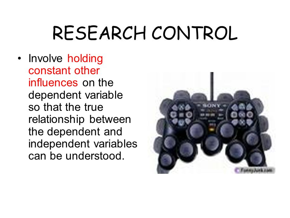 RESEARCH CONTROL