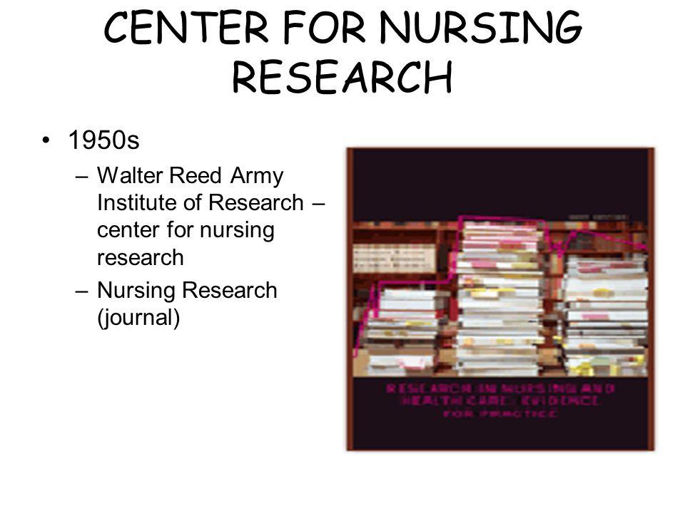 CENTER FOR NURSING RESEARCH